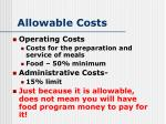 allowable costs2