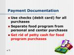payment documentation