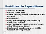 un allowable expenditures