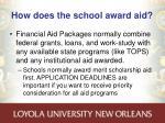 how does the school award aid