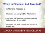 when is financial aid awarded