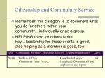 citizenship and community service