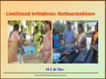 livelihood initiatives kuthambakkam3