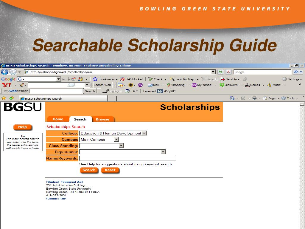 Searchable Scholarship Guide