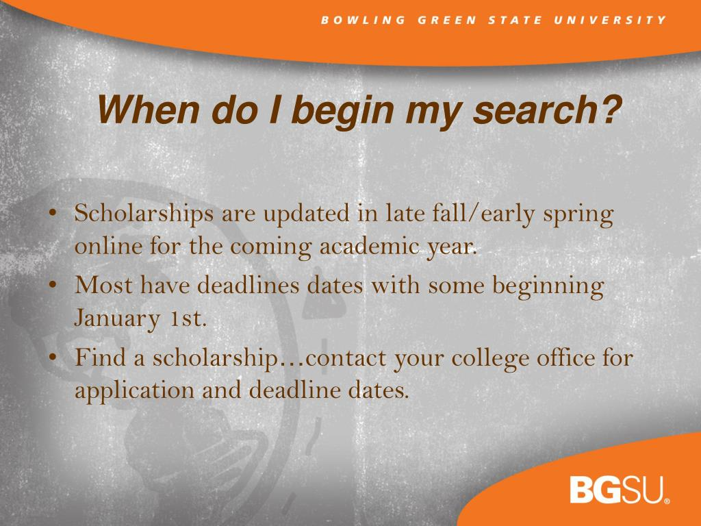 Scholarships are updated in late fall/early spring online for the coming academic year.