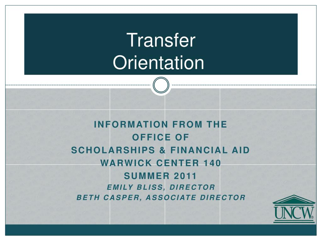 transfer orientation l.