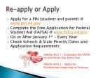 r e apply or apply