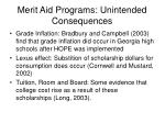 merit aid programs unintended consequences