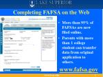 completing fafsa on the web