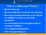 who is a dislocated worker