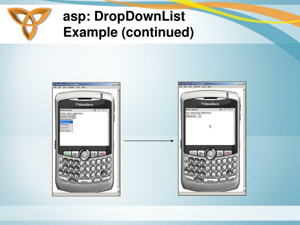 asp: DropDownList