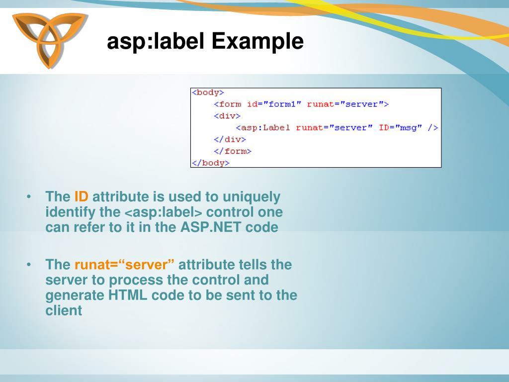 asp:label Example