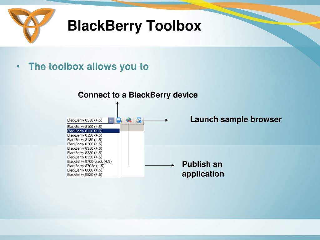 BlackBerry Toolbox