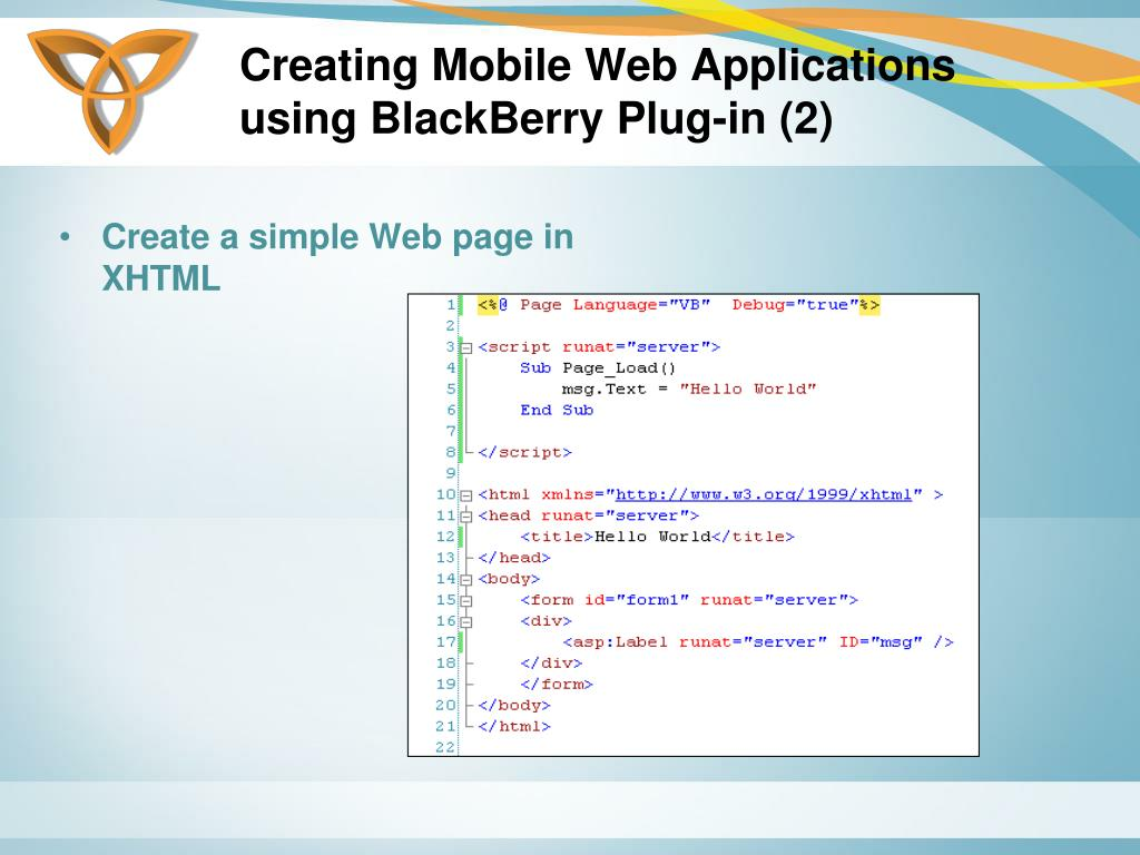 Creating Mobile Web Applications using BlackBerry Plug-in (2)