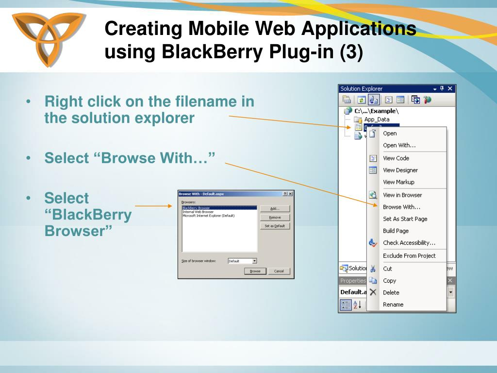 Creating Mobile Web Applications using BlackBerry Plug-in (3)