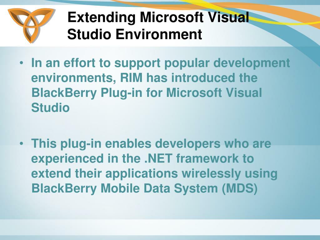 Extending Microsoft Visual Studio Environment