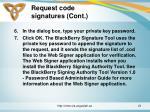 request code signatures cont21