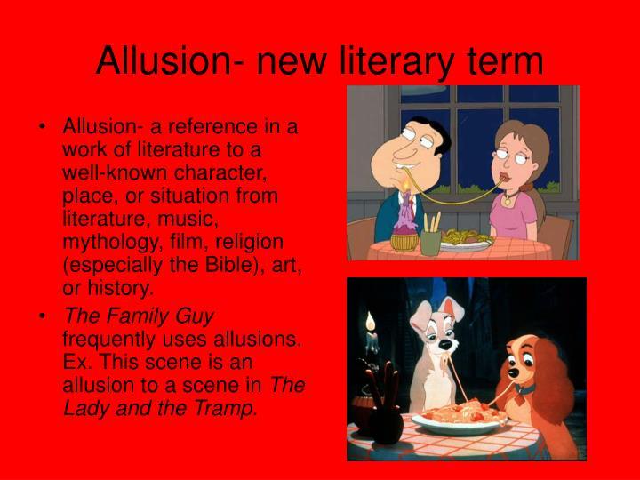 Allusion- new literary term