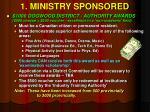 1 ministry sponsored4