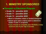 1 ministry sponsored5