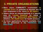 3 private organizations