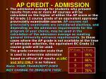 ap credit admission