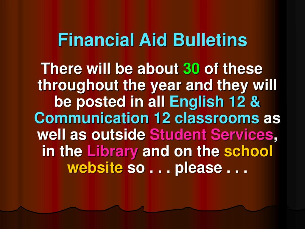 Financial Aid Bulletins