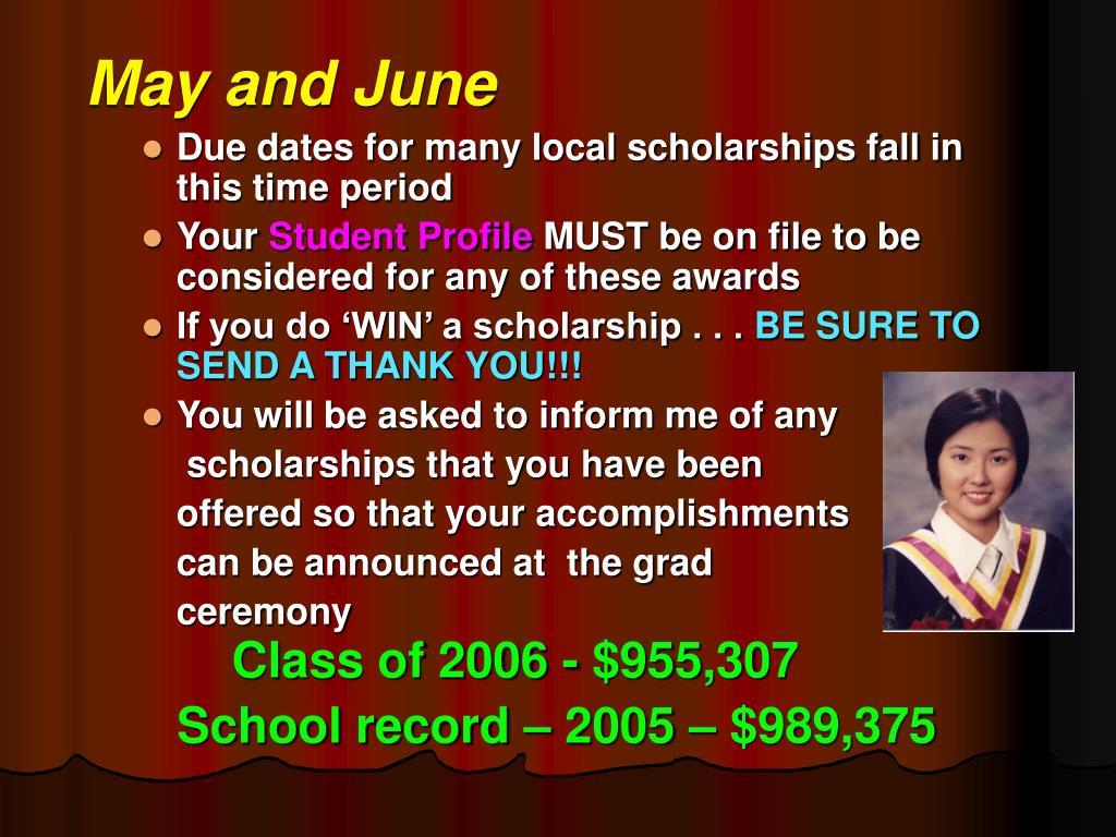 May and June