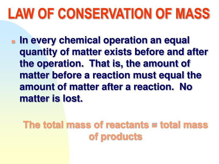 Lavoisier Law Of Conservation Of Mass | www.pixshark.com ...