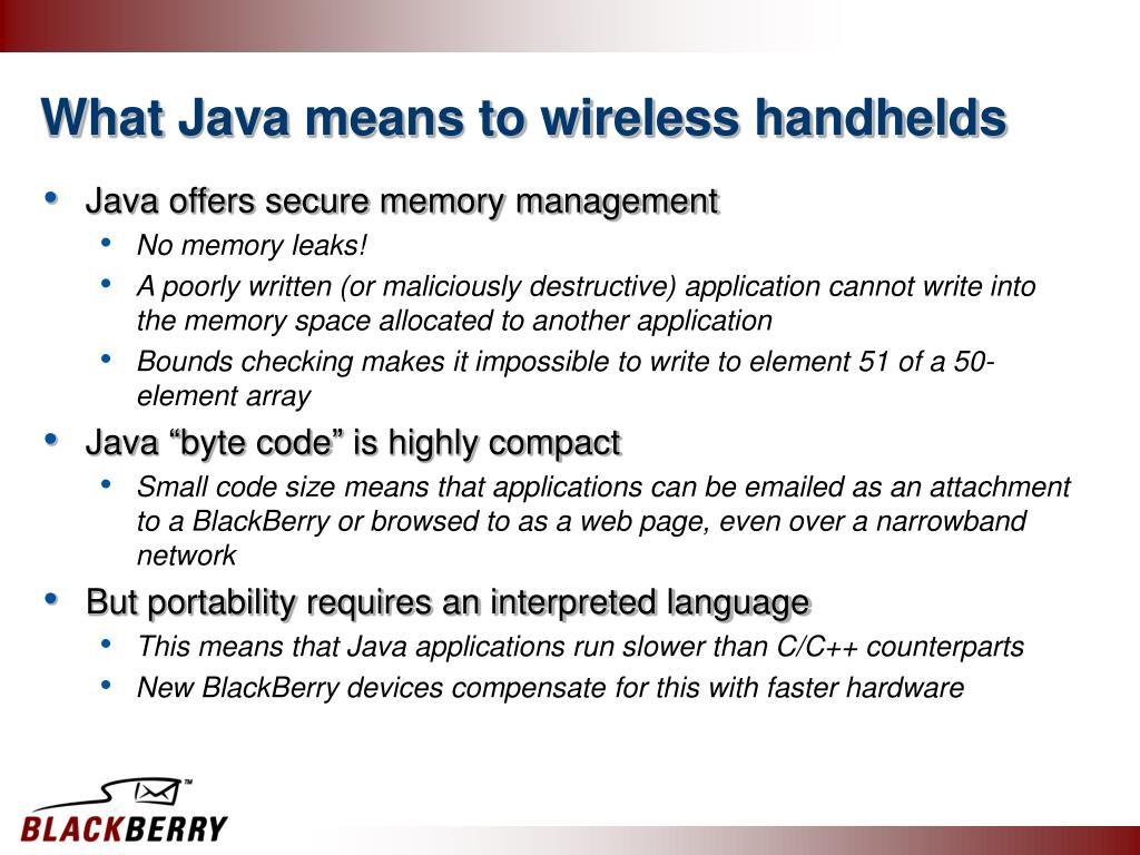 What Java means to wireless handhelds
