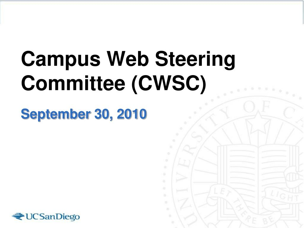 campus web steering committee cwsc l.