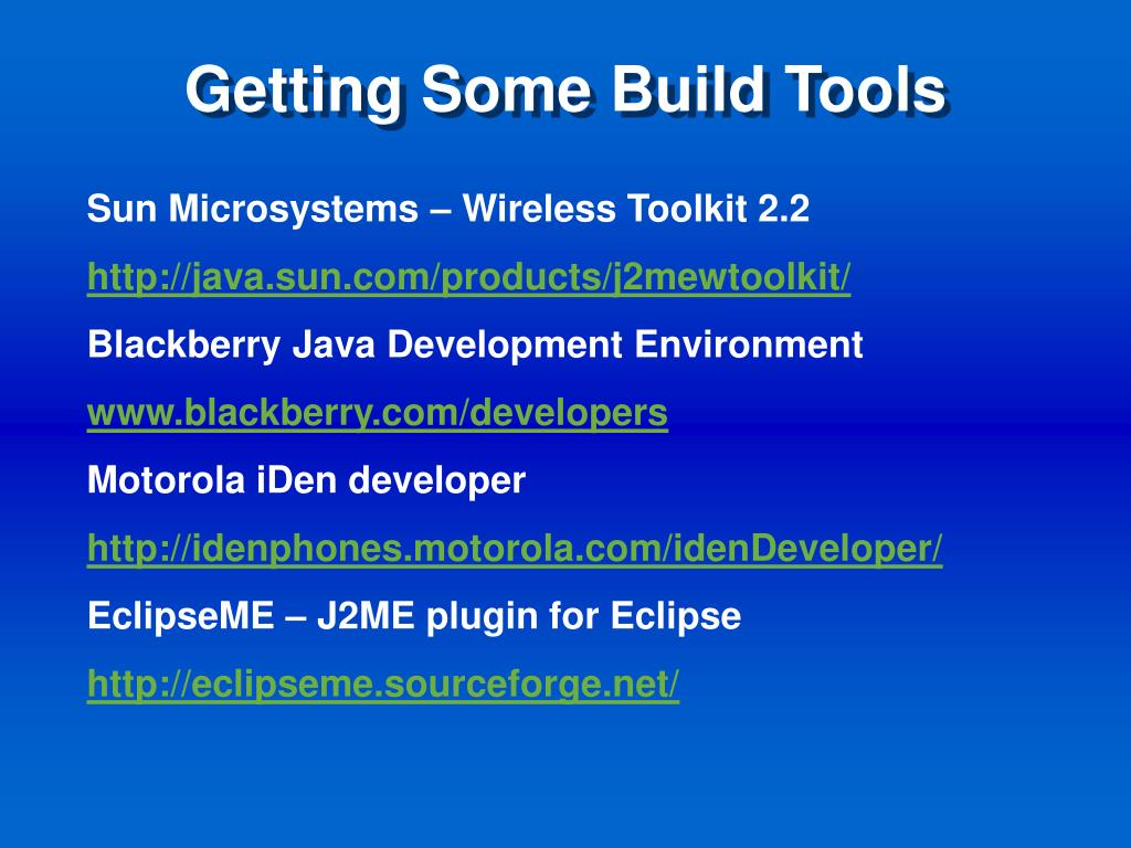 Getting Some Build Tools