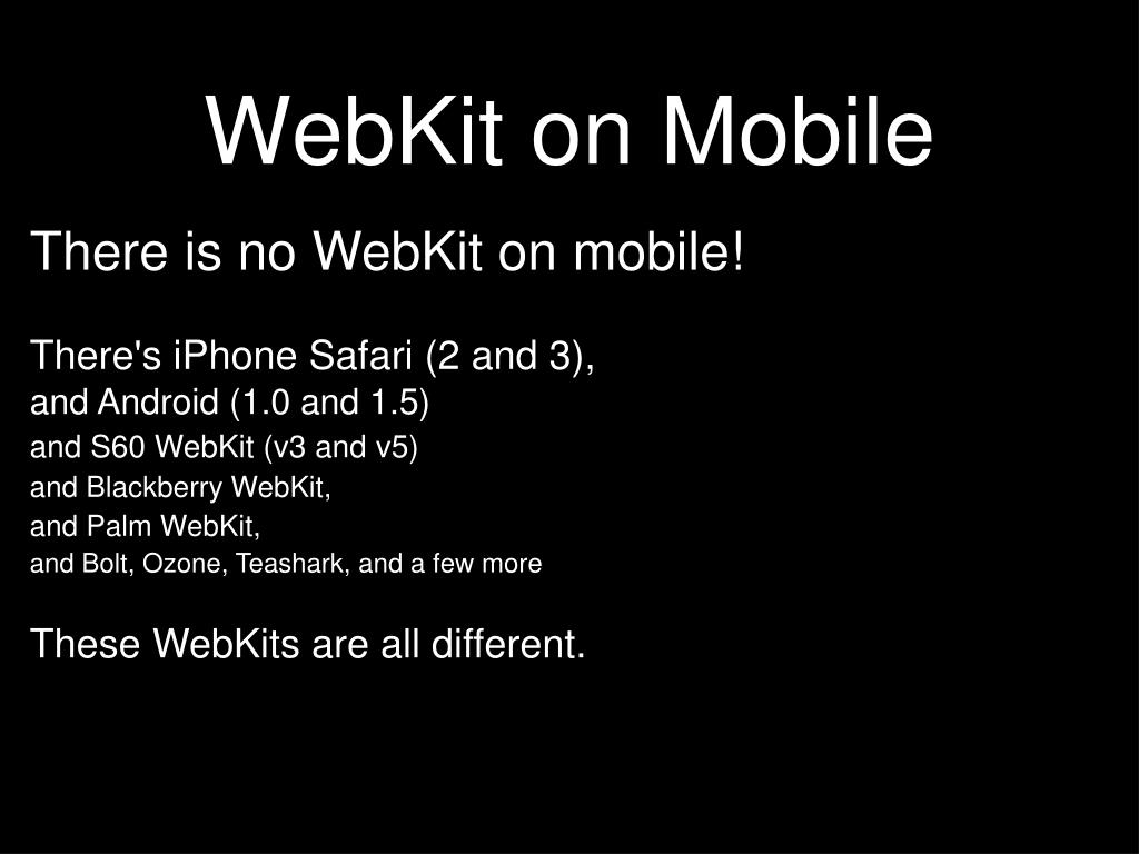 WebKit on Mobile