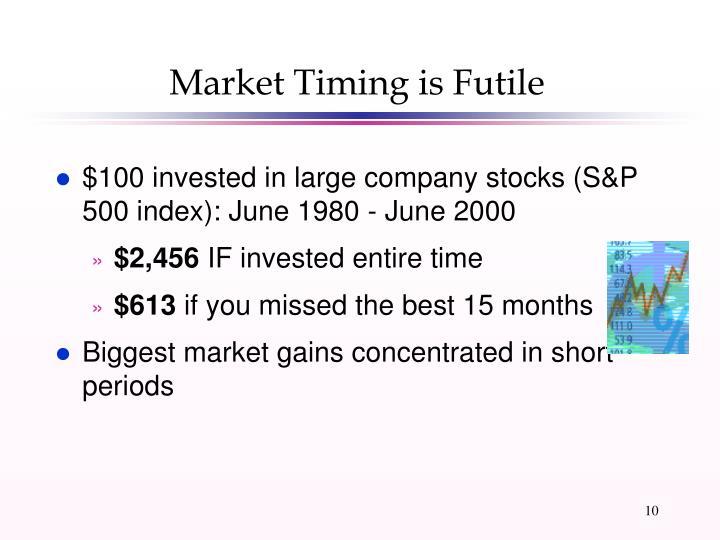 Market Timing is Futile