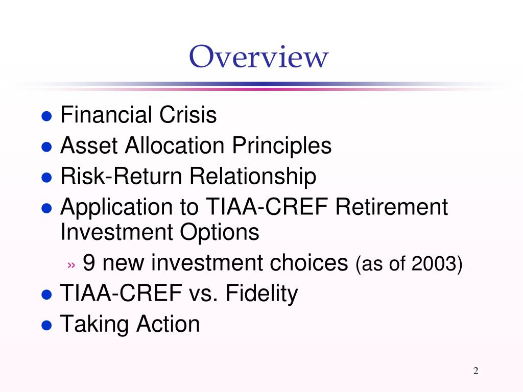 PPT - Financial Crisis & Your Asset Allocation Strategy