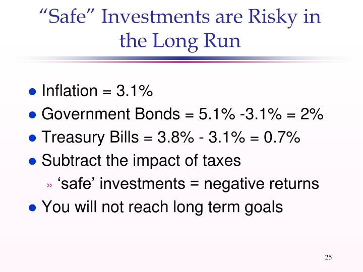 """""""Safe"""" Investments are Risky in the Long Run"""