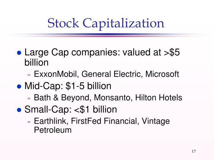 Stock Capitalization