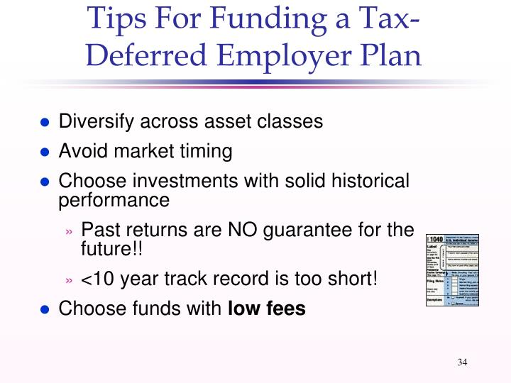 Tips For Funding a Tax-Deferred Employer Plan
