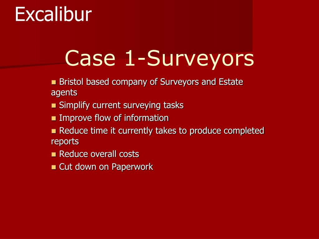 Case 1-Surveyors