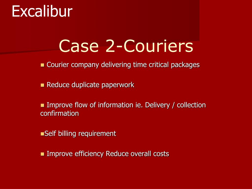 Case 2-Couriers