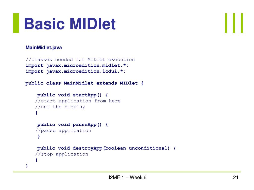 Basic MIDlet