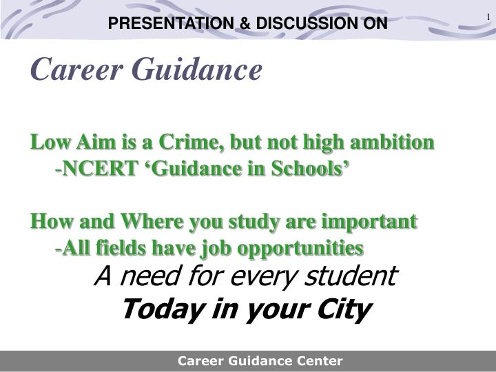a need for every student today in your city