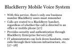 blackberry mobile voice system
