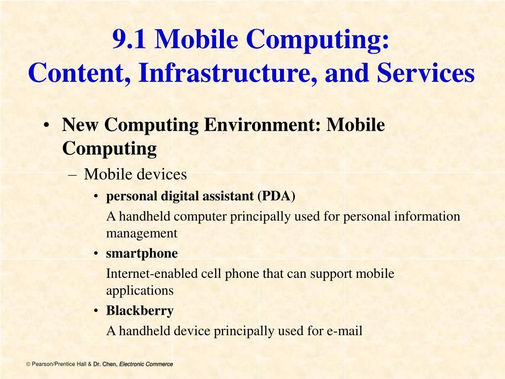 9.1 Mobile Computing: