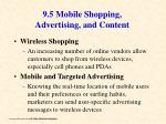 9 5 mobile shopping advertising and content