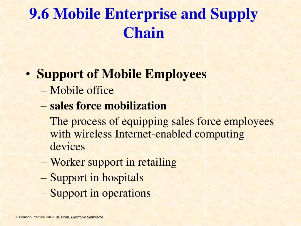 9.6 Mobile Enterprise and Supply Chain