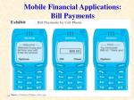 mobile financial applications bill payments