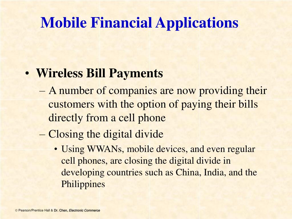 Mobile Financial Applications