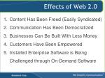 effects of web 2 0