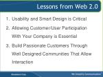 lessons from web 2 0